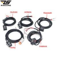 ZS Racing Ecu Plug Mount 6 Speed Gear Display Indicator 1 6 Level Gear Indicator Fit For Yamaha Honda Kawasaki Suzuki Harley