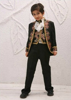Free shipping/custom made Embroidery Kid Tuxedos Suits Boy's Special Occasion Clothes kids tuxedo suit Boys' Attire