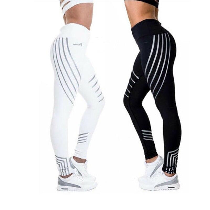 2019 Fashion Fitness   Leggings   Women Slim High Waist Elasticity   Leggings   Printing leggins Woman reflective   Legging   plus size Pant