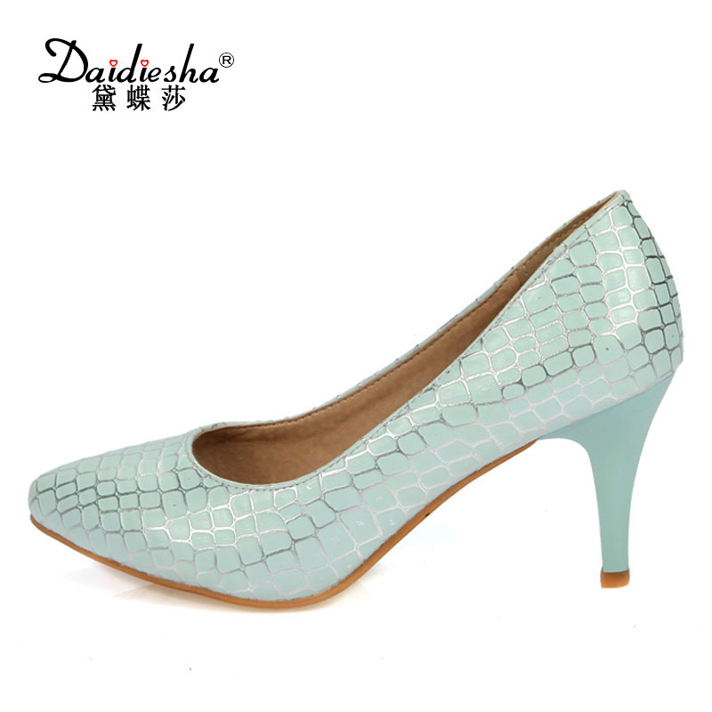 Daidiesha 2017 Spring Autumn Women Pumps Sexy Pointed toe High Heels Shoes Fashion Luxury printing  Wedding Party Pumps size 43 siketu 2017 free shipping spring and autumn women shoes high heels shoes wedding shoes nightclub sex rhinestones pumps g148