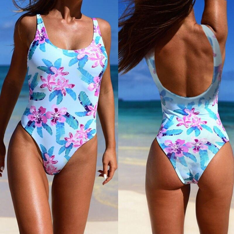 Black Friday Deals Women Swimwear Floral Bandage Monokini Bikini Backless Push-up Padded Bra Bathing Suit Swimsuit