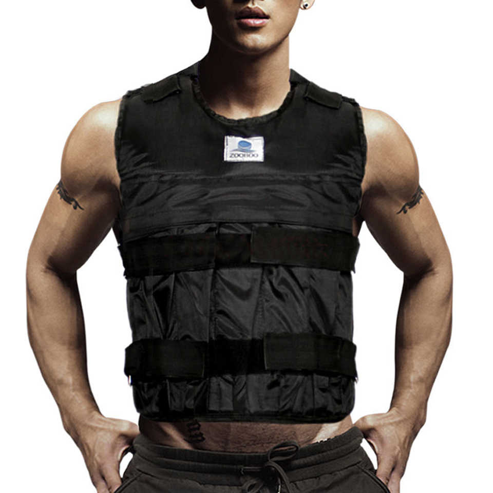 2943f294f50 Zooboo Adjustable Weight Jacket Weighted Vest Exercise Fitness Boxing  Training Weighted Vests Waistcoat Invisible Weight Vest