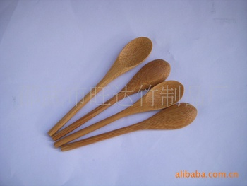 Supply of new bamboo spoon, the handle is cylindrical, beautifully compact medicine spoon sauce spoon spoon jam фото