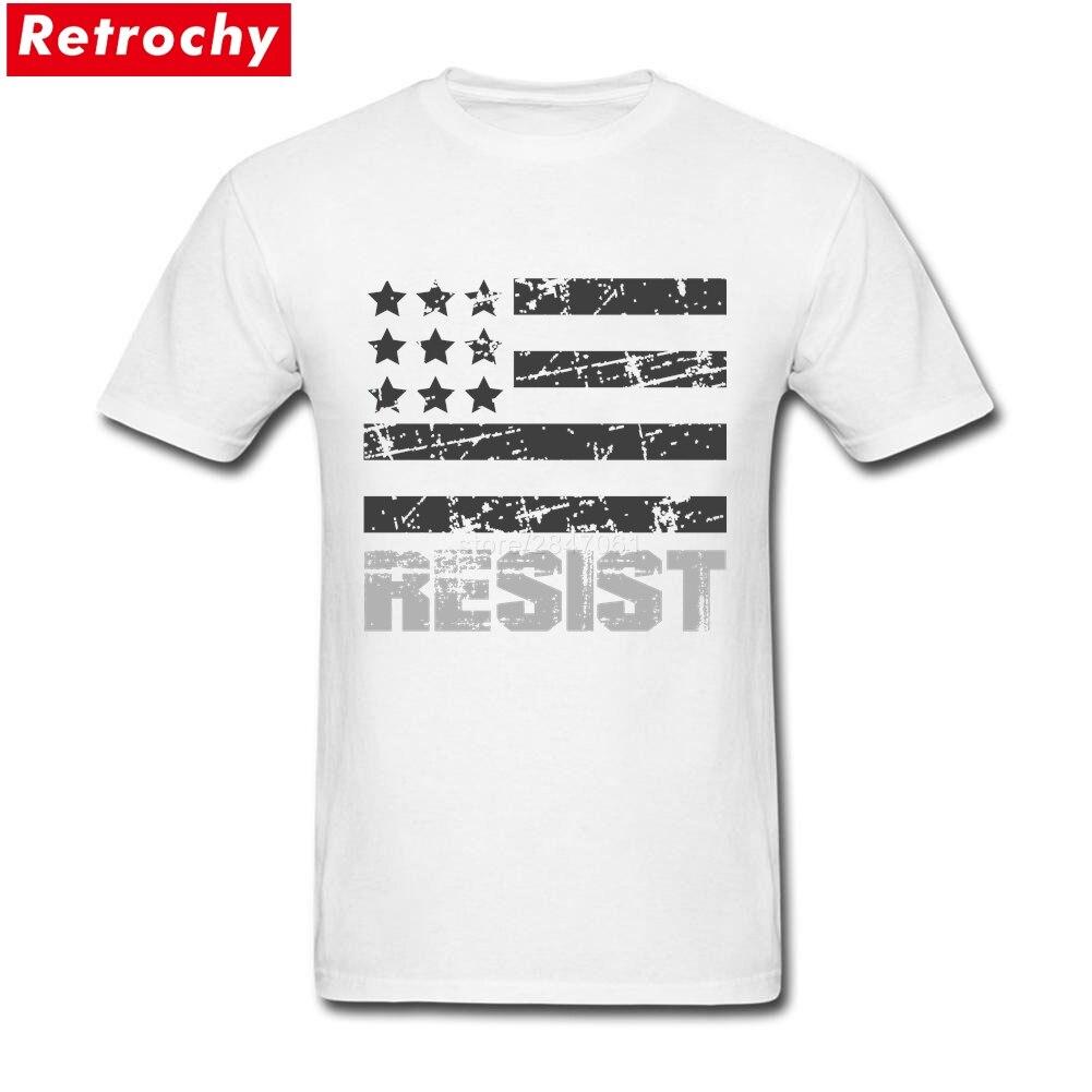 Design t shirt online usa - Custom Cotton Short Sleeve Black And White Usa Resist Flag Tee Shirts Customised Males 3xl Design Tee