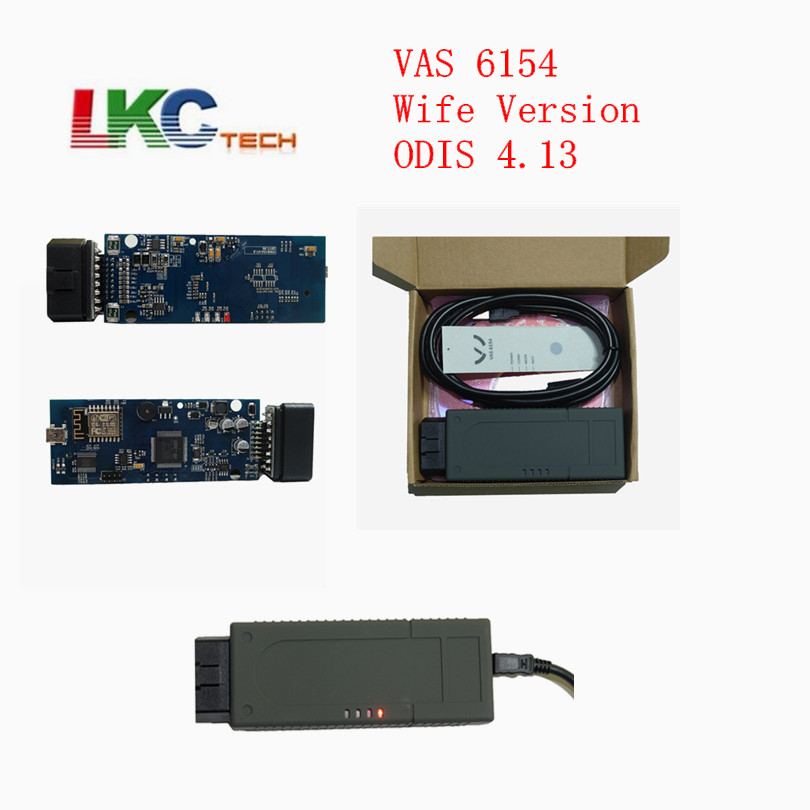 Newest WIFI VAS 6154 ODIS 4.13 OBD Diagnostic Tool VAS6154 for V-W for A-udi for S-koda Diagnostic Scanner Free Shipping vdm ucandas wifi full system automotive diagnostic tool multi language newest version v3 73 include for h onda adapter