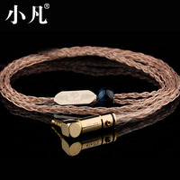 8 Shares Headphones Line Single crystal copper silver Earphone Cables HIFI Headset Line for Sennhei Pin Series IE8/IE80/shure/ue