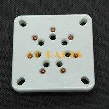 2 uds. De enchufes de tubo de vacío de 7 pines de cerámica para FD 71 FD71 amplificador de tubo HIFI Vintage DIY