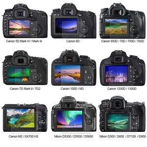 Image 2 - Защитное стекло PULUZ для Canon 5D Mark III IV EOS 6D 7D Mark II 100D/M3 EOS 200D 650D 1200D SX600 G7X