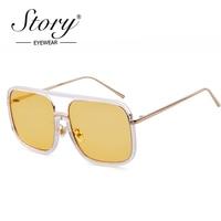 История роскошные Солнцезащитные очки для женщин Для мужчин Брендовая дизайнерская обувь большой Рамки квадратный Защита от солнца Очки ...
