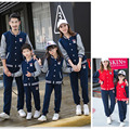 New Family sport clothing set Mom and daughter me Dad Son mother matching clothes autumn spring Mommy Father outfits suits Red