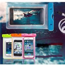 Vanzlife hombres y mujeres universal emisor de luz tipo táctil teléfono móvil impermeable cubierta de viaje agua bolsa de natación fácil de usar