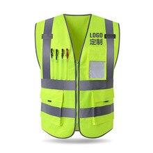 Светоотражающий Жилет строительство Инженерная Безопасность защитная одежда дорожного движения предупреждение зеленый автомобиль флуоресцентный пальто