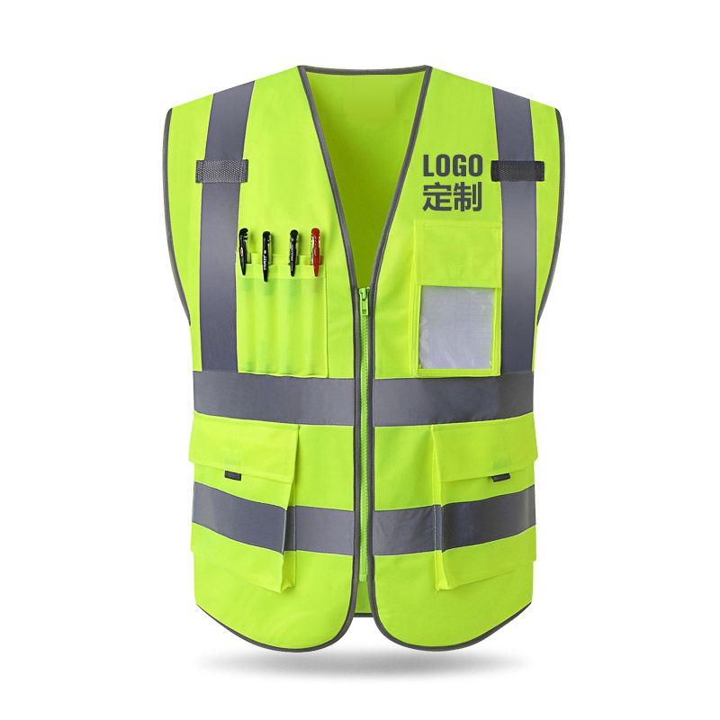 Reflective vest construction engineering safety protective clothing traffic warning green car fluorescent coat good sale reflective safety vest 2 strips waistcoat for construction traffic warehouse green