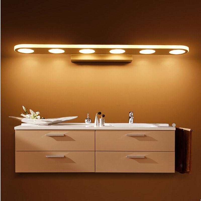 18inch Ac85 260v 15w Bathroom Mirror Light Fixtures Led Moistureproof Round Bath Make Up Wall