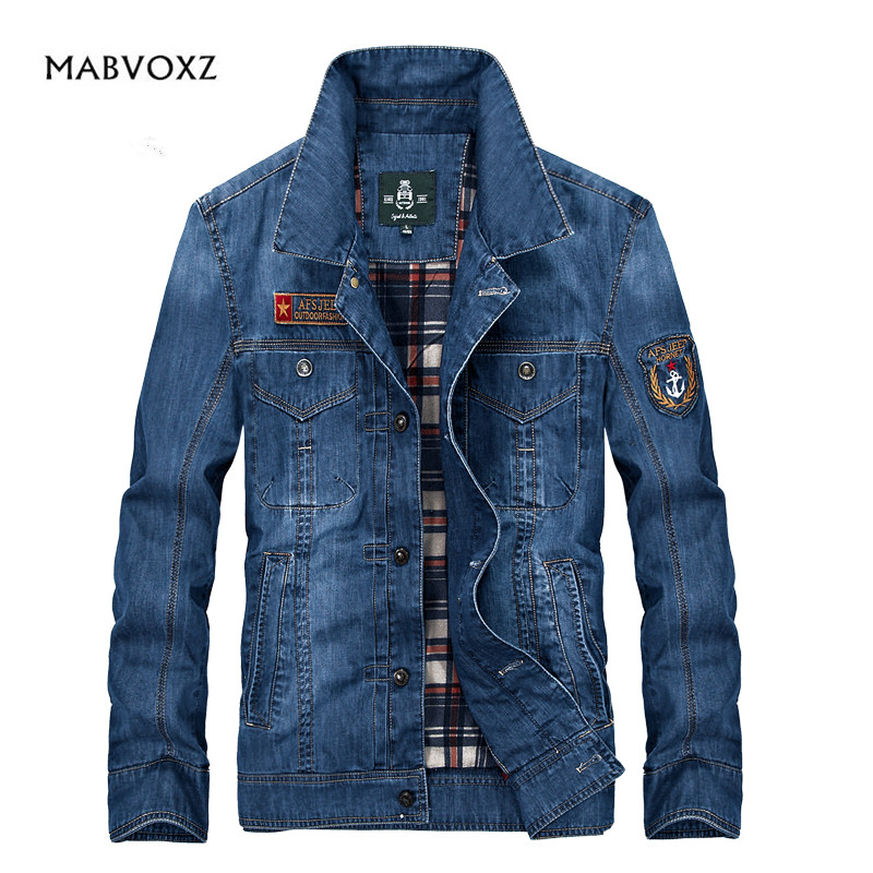 European Style Men Jackets Denim Jeans Casual Coats For Spring and Autumn Brand Original AFS Jeep Clothing warm Size M-4XL afs jeep autumn jeans mens straight denim trousers loose plus size 42 cowboy jeans male man clothing men casual botton page 3