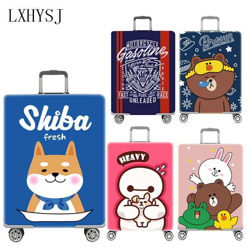 Animal Pattern Luggage Protective Covers Elasticity Luggage Cover Suitable18-32 Inch Suitcase Case Dust Cover Travel Accessories