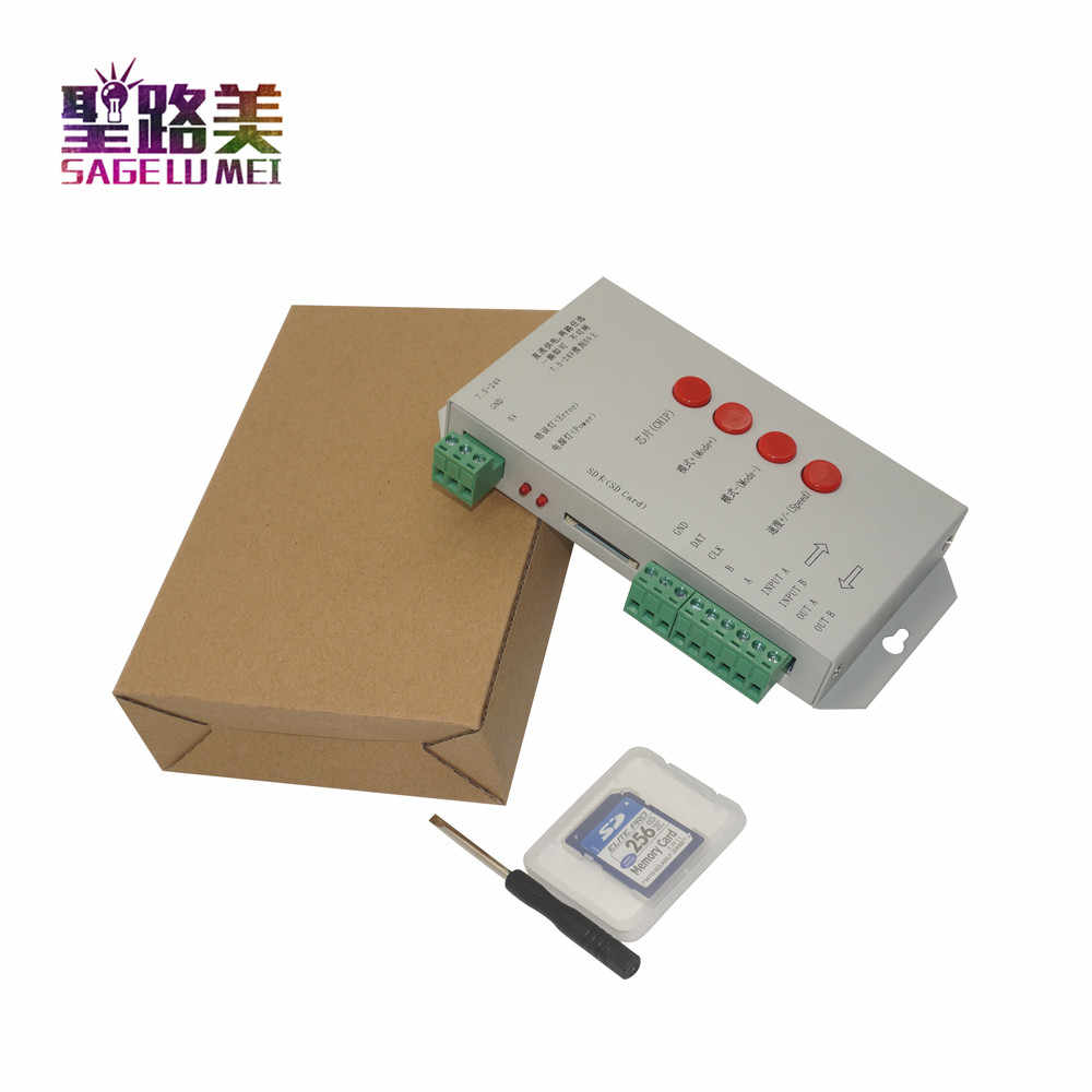 T1000S SD Thẻ WS2801 WS2811 WS2812B LPD6803 LED 2048 Pixels Bộ Điều Khiển DC5 ~ 24V T-1000S RGB Bộ Điều Khiển