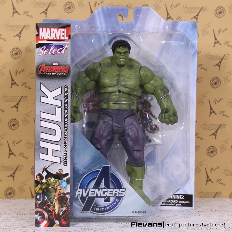 цена Marvel Select Avengers Hulk PVC Action Figure Collectible Model Toy 10