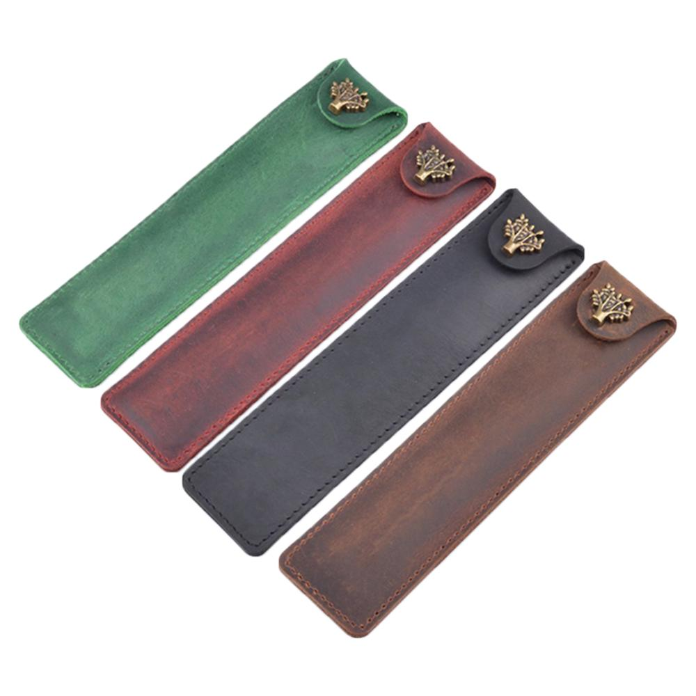 Leather Pen Holder Color Options Fountain Pen Pouch Pencil Holder Handmade Ballpoint Pen Protective Sleeve Cover For Office Coll