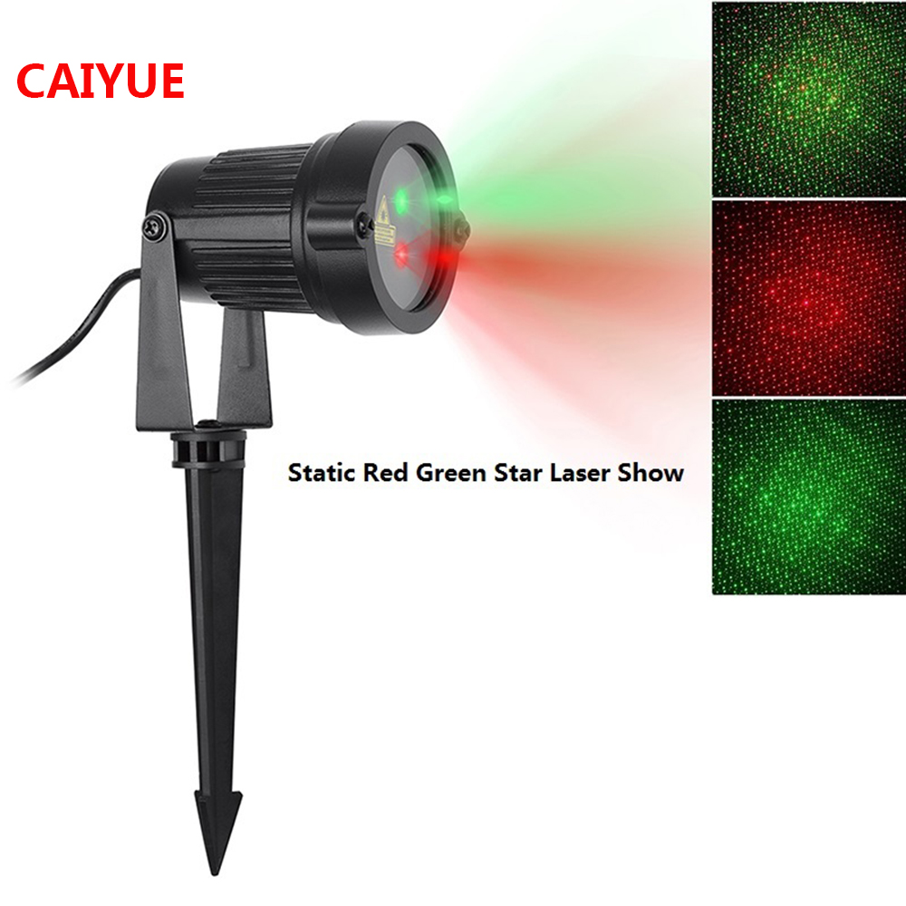 Red Green Static Laser Star Light Christmas Projector Showers Outdoor Garden Decoration Aluminum Waterproof IP65 Lawn Lamps Xmas outdoor garden decoration waterproof christmas party halloween laser light star projector showers red green static twinkle