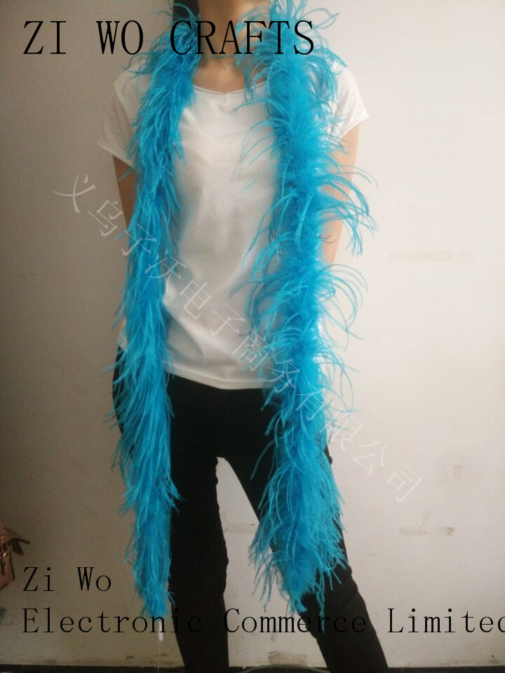 ostrich feather boa 5ply ones black color