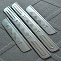 Accessories For Peugeot 206 207 2008 307 308 3008 301 408 4008 508 Door Sill Scuff Sill Plate Step Cover Trim Protector Sticker