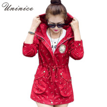 2017 New And Fashion Hot Selling Leisure Female Printing Jacket Women Coat Windbreaker Long Sleeve Spring Jacket 4E1389