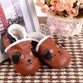 Новые зимние теплые сапоги Из Натуральной Кожи Детские Мокасины Обувь собака стиль Малышей Детские Мальчик Обувь Новорожденных Детская Обувь Предварительно ходунки