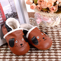 New winter warm boots Genuine Leather Baby Moccasins Shoes dog style Toddler Baby Boy Shoes Newborn Infant Shoes Pre-walkers