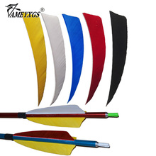 """50pcs 4"""" Shield Arrow Feather Vanes Handcraft Turkey Feather Fletching for Crossbow Wood Bamboo Carbon Arrow Hunting Shooting"""