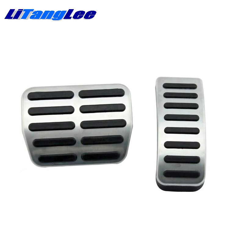 LitangLee Car Accelerator Pedal Pad Cover Sport Racing Design For SEAT Arosa 1997~2004 AT Foot Throttle Pedal Cover (3)