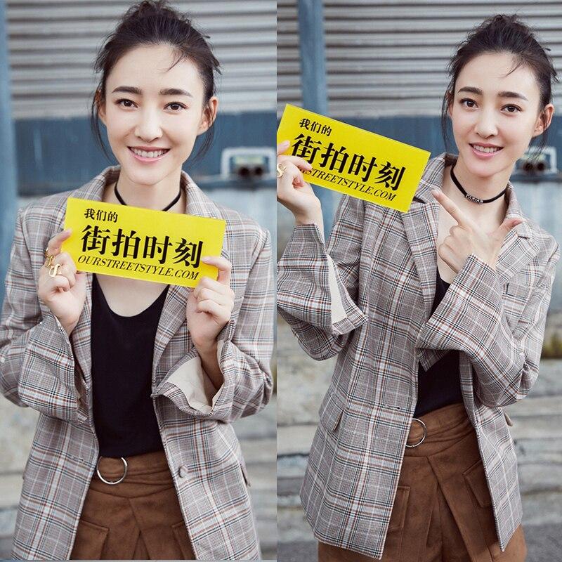 Coréenne Costume Grille Petit Même Le 1 De La New Plaid Femmes Casual Paragraphe Version Veste q8FIwR