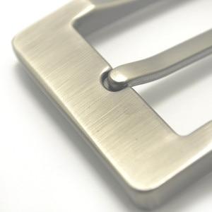 Image 5 - מתכת 4cm חגורת אבזם גברים של מזדמן סוף בר העקב בר סיכה אחת חגורת חצי אבזם עור קרפט ג ינס חגורה fit עבור 38mm חגורה