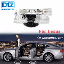 2X LED Courtesy Lamp Car Door Welcome Light 12V Projector For Lexus RX GS 300 400 430 350 450 HS IS LS LX 570 ES SC Accessories