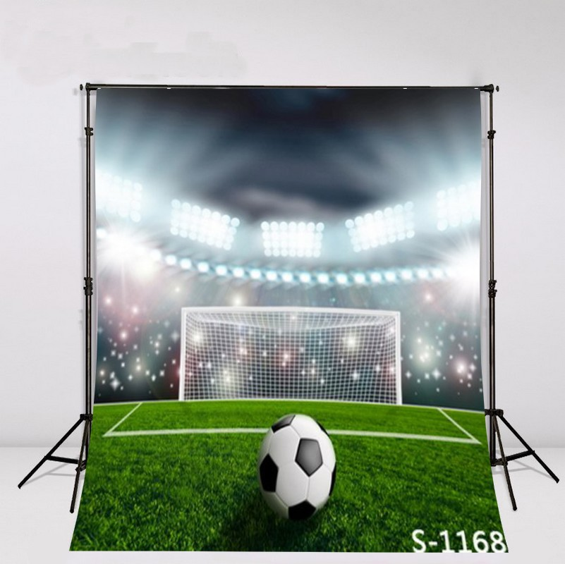 Sports Football Soccer Ball Green Stadium Arena party backdrops Vinyl cloth High quality Computer print wall Backgrounds soccer fans football colorful hair coser wig wild curl up tuba ball blast head clown hilarit party headwearing