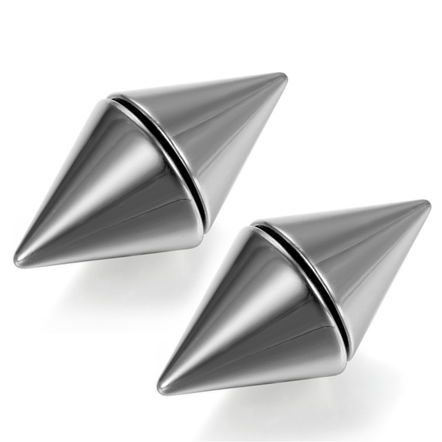 Boniskiss Unisex Men And Women Magnet Earrings Rivet Ear Stud Stainless Steel Magnetic Jewelry Fake Ear.jpg 640x640 - Boniskiss Unisex Men And Women Magnet Earrings Rivet Ear Stud Stainless Steel Magnetic Jewelry Fake Ear Plug No Piercing