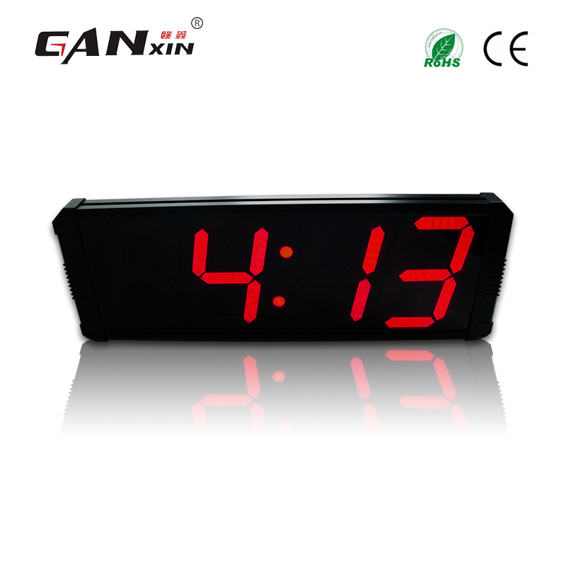 Ganxin 8 Inches 4 Digits New fashion Large Digital Clock Led Wall Clock countdown timer
