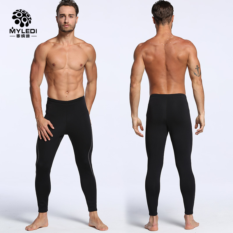 MYLEDI 2MM Neoprene Diving Pants For Men Surfing Snorkeling Winter Swimming Rowing Sailing Diving Wetsuit Keep Warm Black