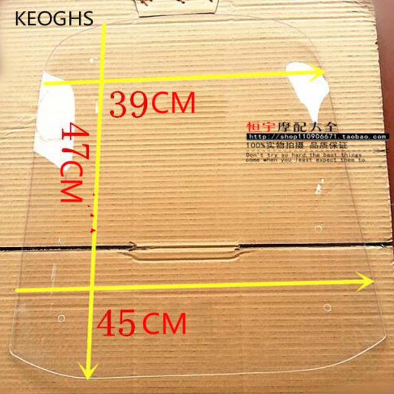 Plexiglass 470*450*3mm universal motorcycle windshield motorcycle wind deflector scooter windscreen deflector street glide 49 45cm for 125cc 150cc motorcycle windscreen deflector wind deflector wind shield windscherm scooter free shipping