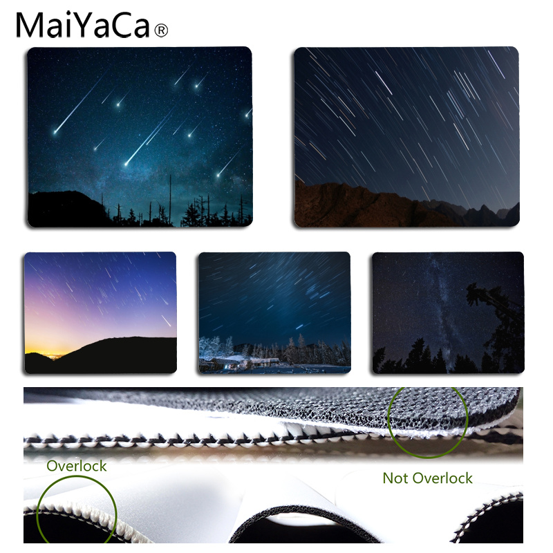 MaiYaCa High Quality Meteor Shower Under The Night DIY Design Pattern Game mousepad Size for 18*22cm and 25*29cm Mousepad