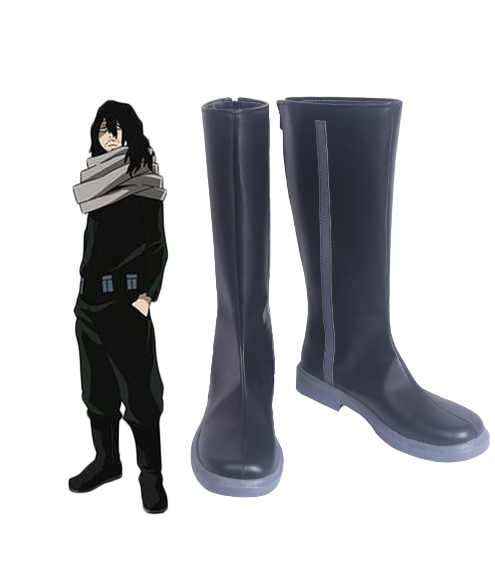 Shota Aizawa Eraser Head Cosplay Boots Boku no Hero Academia Black Shoes My Hero Academia Shota