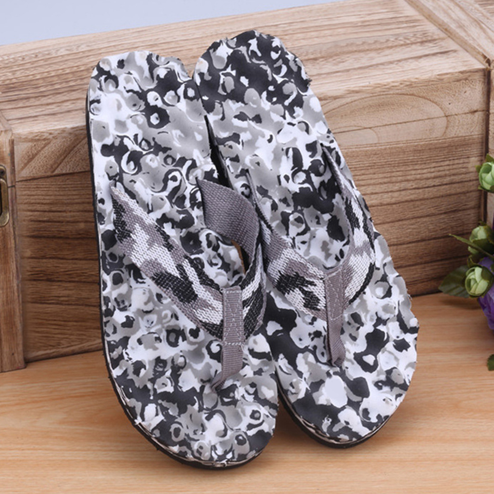 Men Summer Camouflage Color Slipper Female Massage Beach Flip Flops Fashion Daily Sandals Shoes Indoor Outdoor 3Color  New