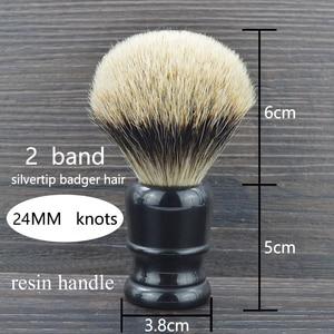 Image 2 - DSCOSMETIC Men 2 band Badger Hair and Black resin handle Shaving Brush