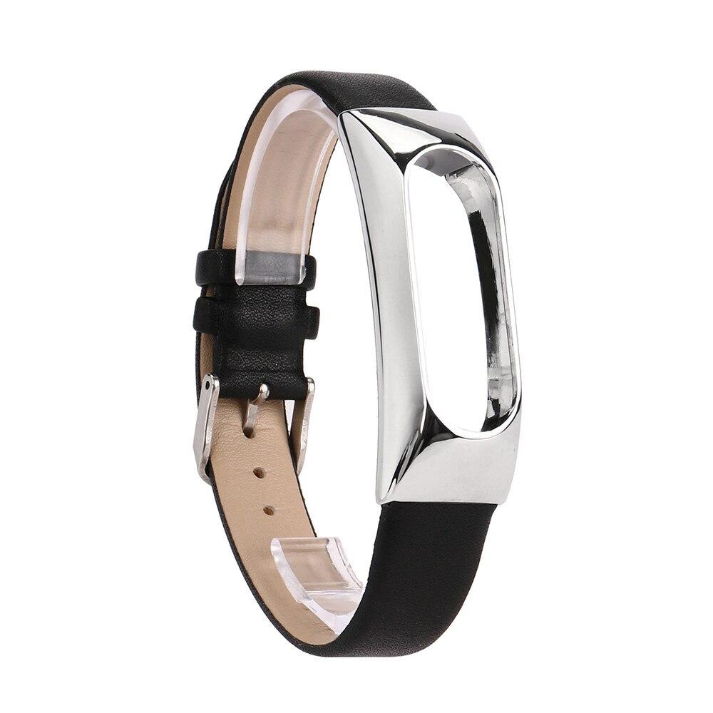 2017 new design Replacement Wristband Band Strap + Metal Case Cover For Xiaomi Mi Band 2 Bracelet Dec07 send in 2 days dropshipping woman leather rhinestone rivet chain quartz bracelet wristwatch watch new design 2016 dec08 send in 2 days
