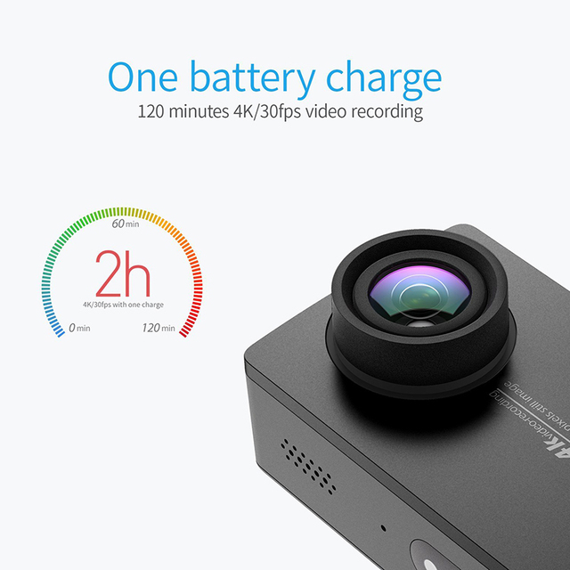 【Ship in Dec】YI 4K Action Sports Camera 4K/30fps Video 12MP Raw Image EIS Voice Control Ambarella A9SE Chip 2.19''  Touch Screen 4