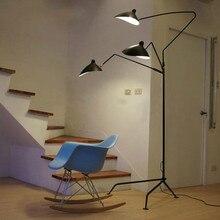 Serge Mouille 1 brazo/3 brazos Nordic Lámpara de Pie lámpara de Pie de Hierro de Luz de Diseño de Réplica de hierro Negro/Blanco Piso lámpara de Loft industrial
