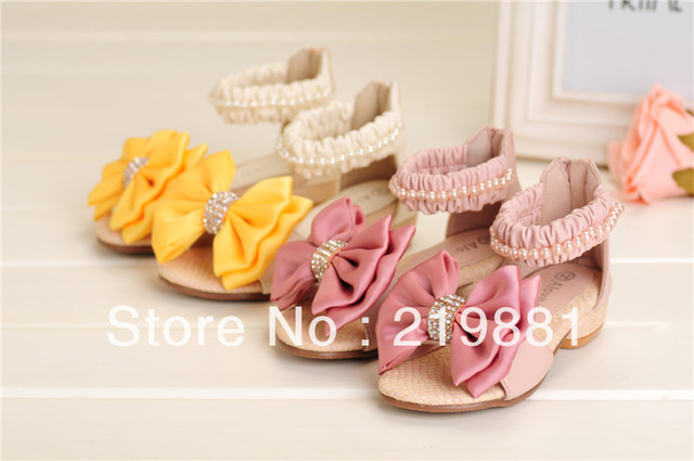 Wholesale ! Girls fashion new summer  bow sandals , shoes baby girl  10 pair/lot    ZYL03