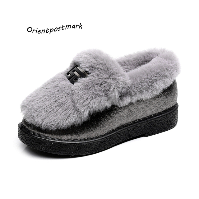 Snow Boots Winter Ankle Boots Women Shoes Oversize Shoes Female Warm Hot Platform Winter Ankle Boots Fashion Shoes Black Gray
