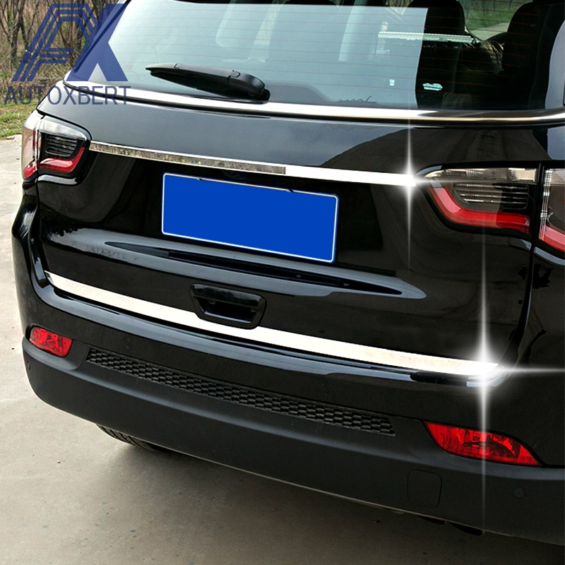 For Jeep Compass 17-18 LED Car Rear Fog Light Bumper Trunk Reflector Lamps