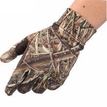 Новые весенние летние уличные бионические камуфляжные перчатки охотничьи тростники полные перчатки противоскользящие эластичные перчатки для рыбалки с сенсорным экраном